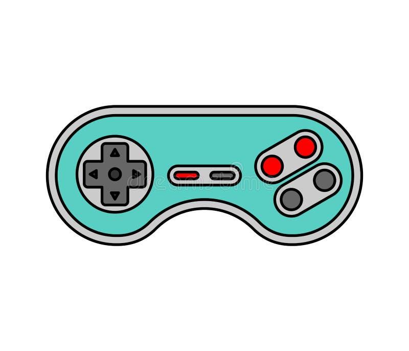 Joystick odizolowywający Retro Gamepad gra wideo kontroler stary ilustracja wektor