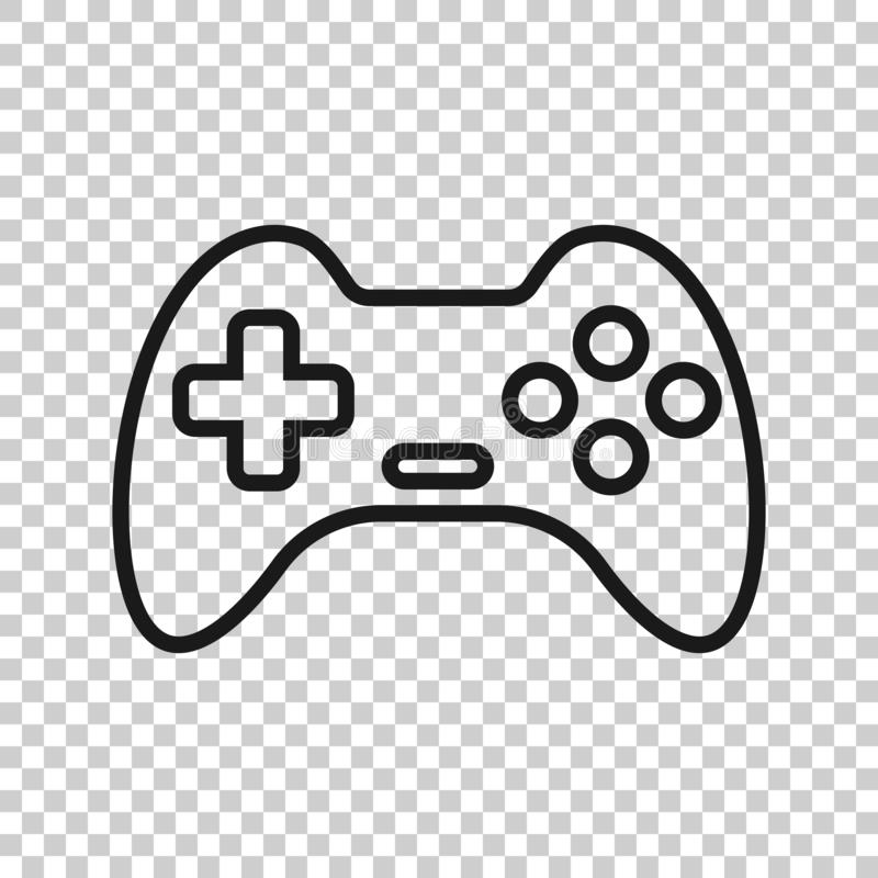 Joystick sign icon in transparent style. Gamepad vector illustration on isolated background. Gaming console controller business royalty free illustration