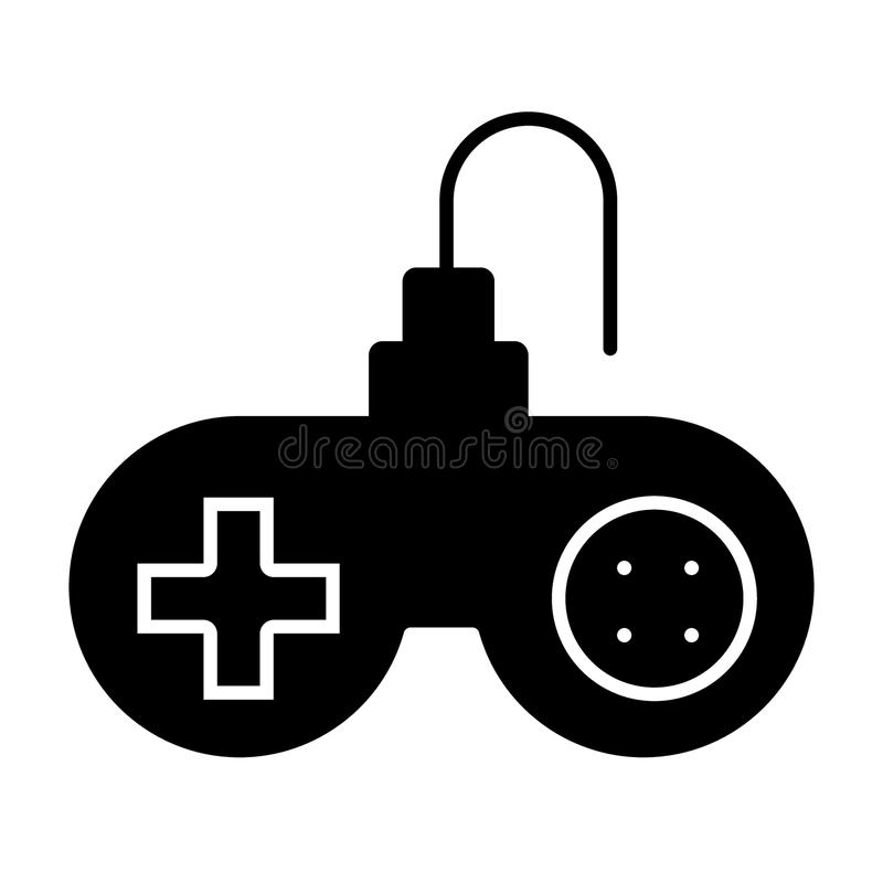 Joystick solid icon. Gaming vector illustration isolated on white. Gamepad computer glyph style design, designed for web vector illustration