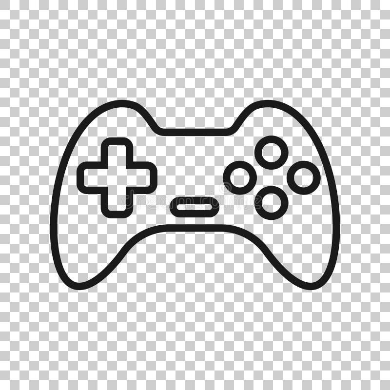 Joystick szyldowa ikona w przejrzystym stylu Gamepad wektorowa ilustracja na odosobnionym tle Hazard konsoli kontrolera biznes royalty ilustracja