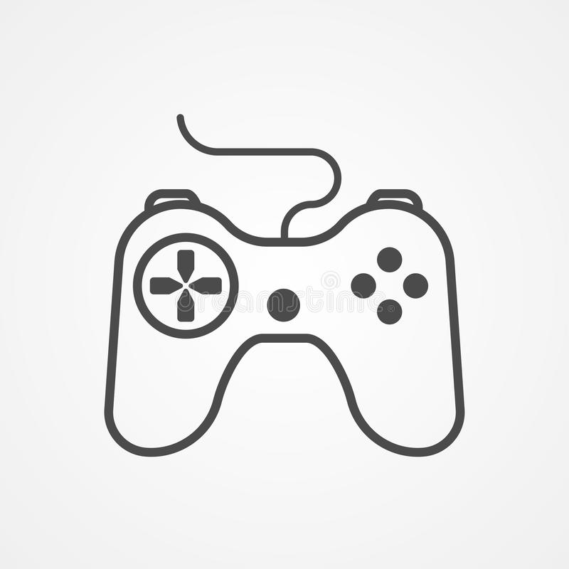 Joystick vector icon sign symbol. Joystick icon vector, filled flat sign, solid pictogram isolated on white. Symbol, logo illustration royalty free illustration