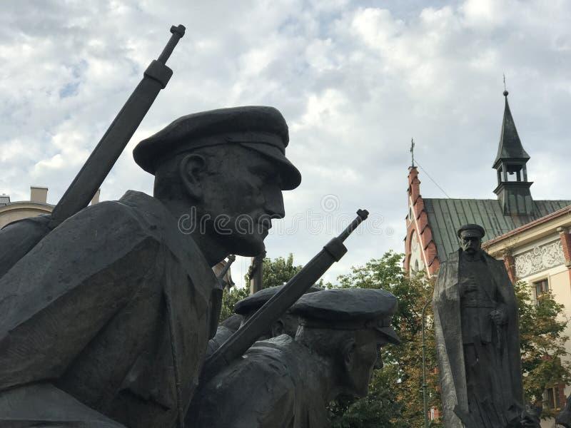 Jozef Pilsudski Monument lizenzfreie stockfotos
