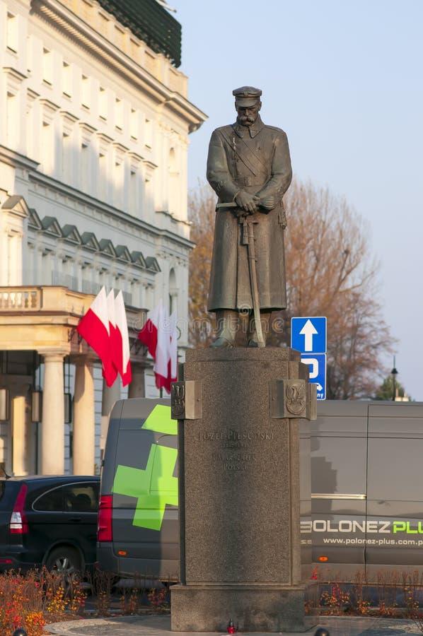 Jozef Pilsudzki Denkmal in Warschau lizenzfreies stockfoto