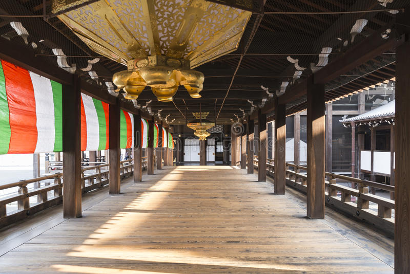JP_Kyoto_Nishi-Hongan-ji_Tempel-12 imagem de stock royalty free