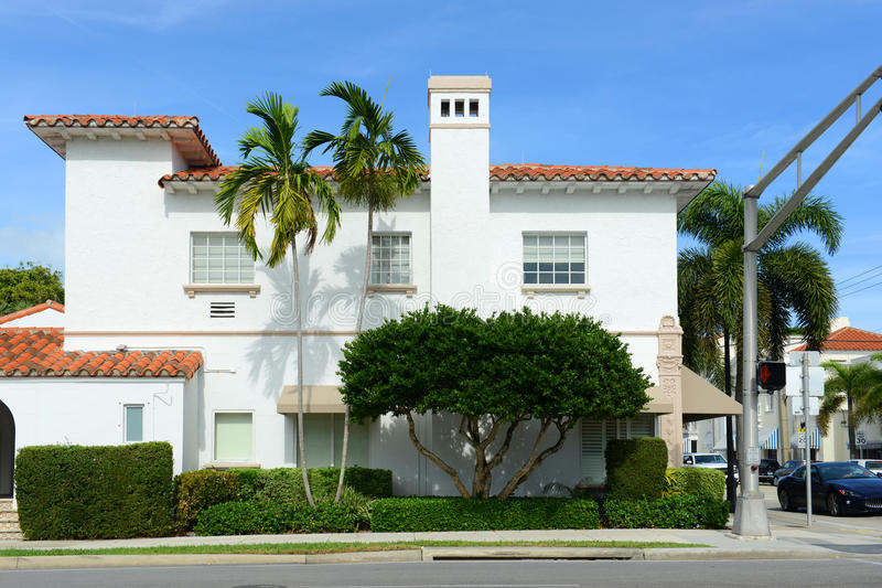 JP Morgan budynek, palm beach, Floryda fotografia stock