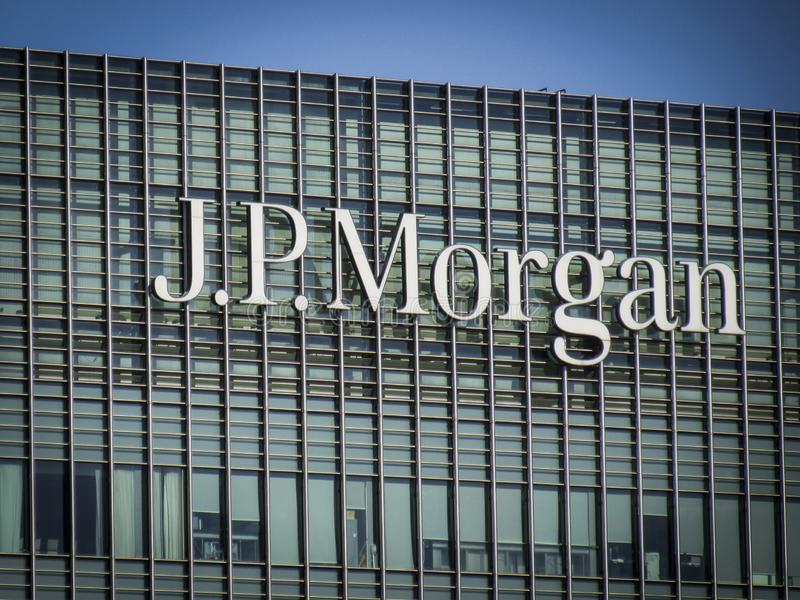JP Morgan building, Canary Wharf royalty free stock images