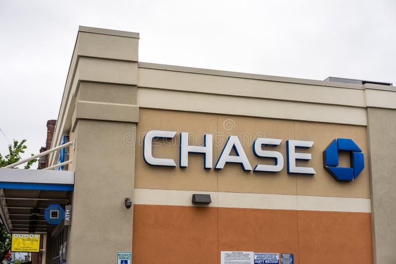 JP Morgan Chase Bank royalty free stock photography