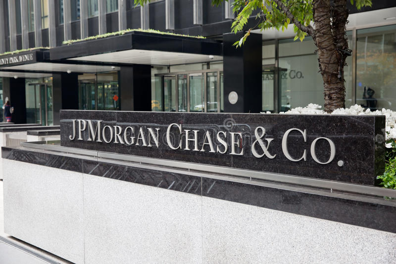 JP Morgan Chase & Co stock fotografie