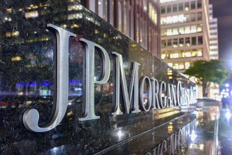 JP Morgan Chase & Co - New York City stock image