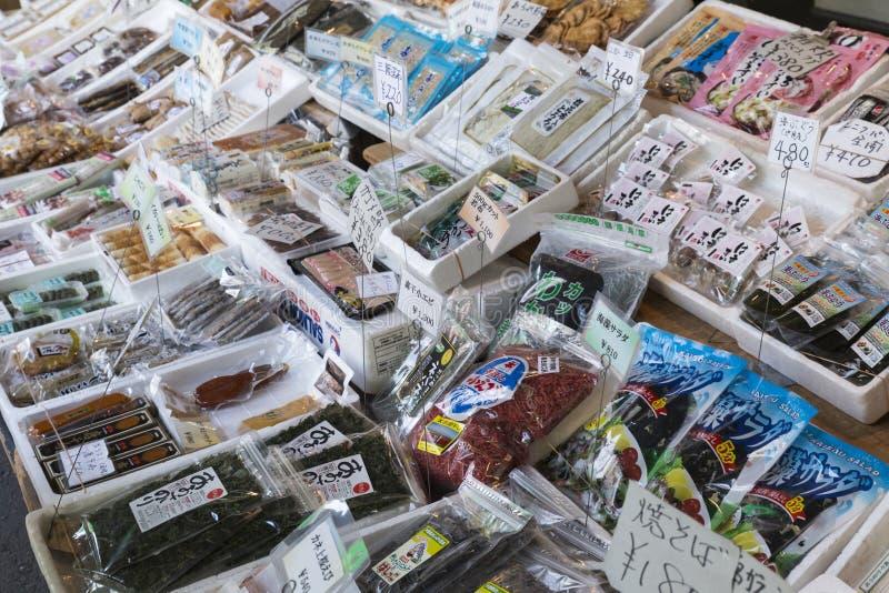JP_Tokyo_Tsukiji_Fischmarkt-4 fotografia de stock