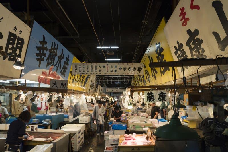JP_Tokyo_Tsukiji_Fischmarkt-40 στοκ εικόνα