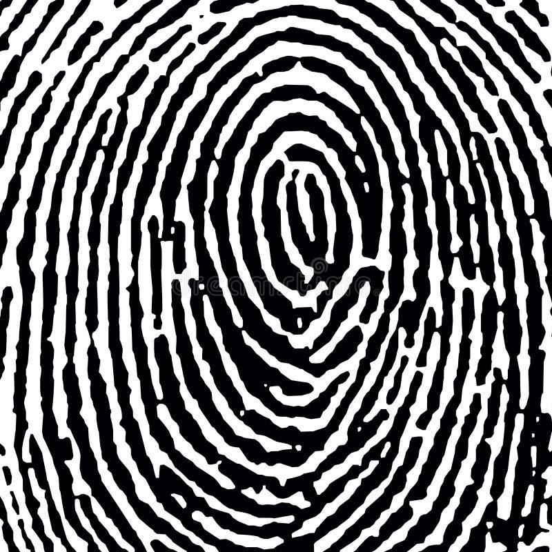 jpg för kantjusteringsavskiljare fingerprint16 vektor illustrationer