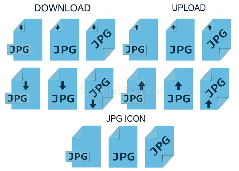 Jpg kartoteki formaty Fotografii i graficznej kartoteki typ ikona ilustracji