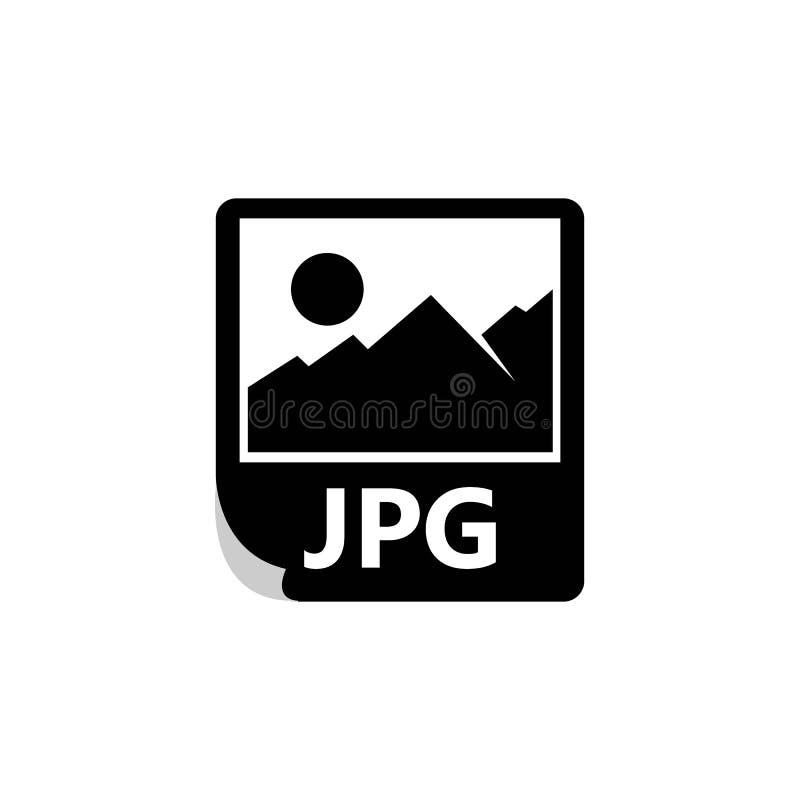 JPG kartoteki ikona Logo elementu Jpg kartoteki ilustracyjny projekt ilustracja wektor
