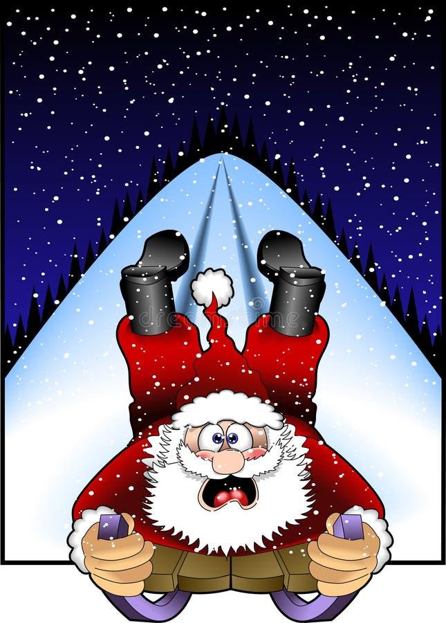 jpg Santa sledding ilustracji