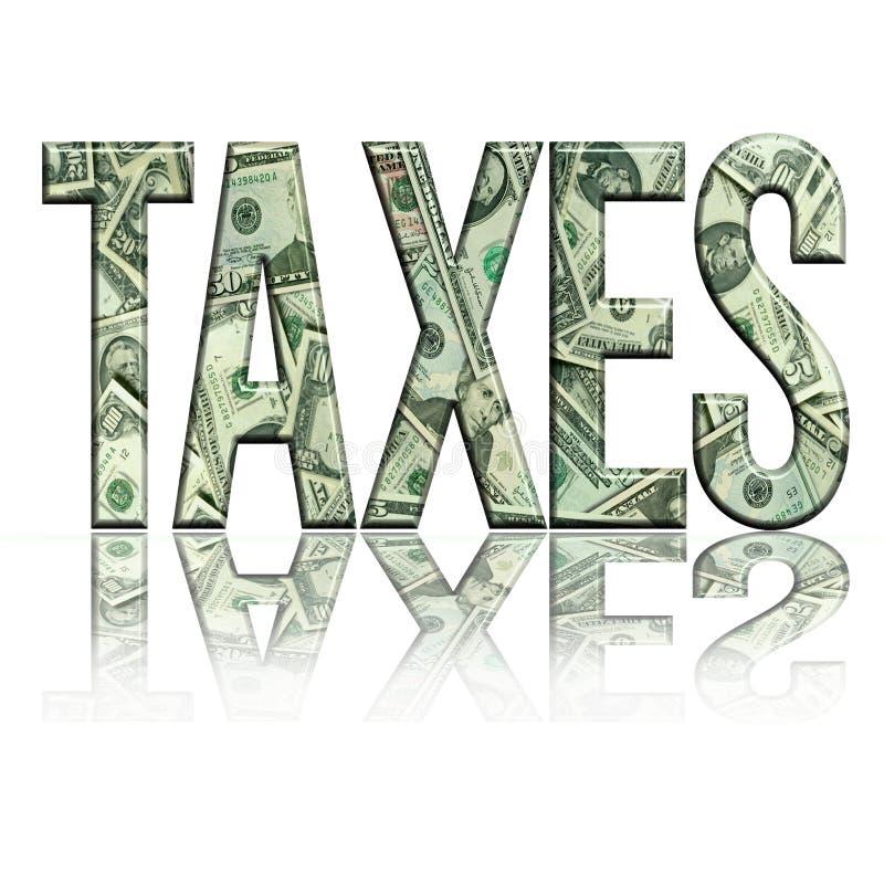 jpg taxes4 vektor illustrationer