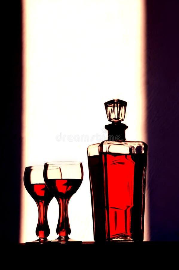 JPG wineglasses73 免版税库存照片