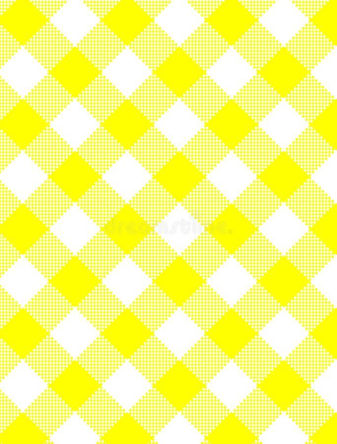 Download JPG Woven Yellow Gingham stock vector. Image of wallpaper - 13977766