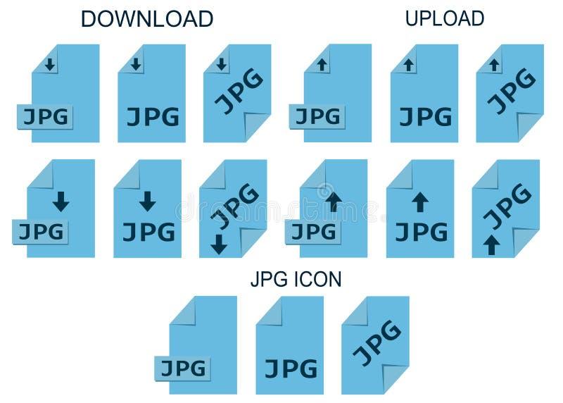 Jpgmappformat Foto- och diagramfiltypsymboler stock illustrationer