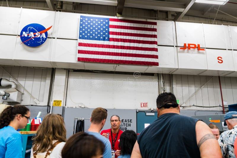 JPL-Besuch an der ` A ` offenes Haus ` jährlicher Veranstaltung Karte, zum von JPL-` zu erforschen lizenzfreie stockfotos
