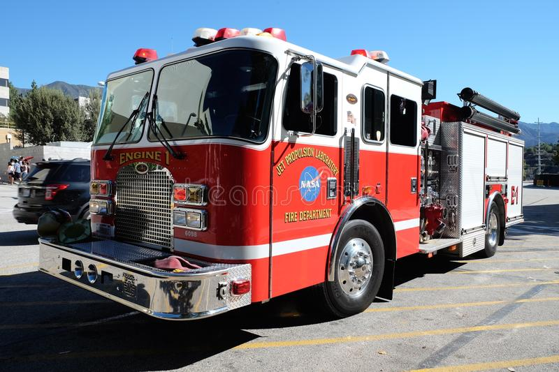 JPL's own fire truck. Jet Propulsion Laboratory Fire Department stock photos