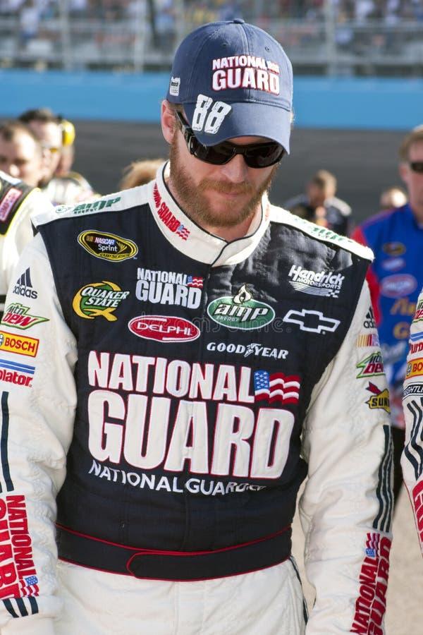 JR de Dale Earnhardt de gestionnaire de chemin de cuvette de NASCAR Sprint image libre de droits