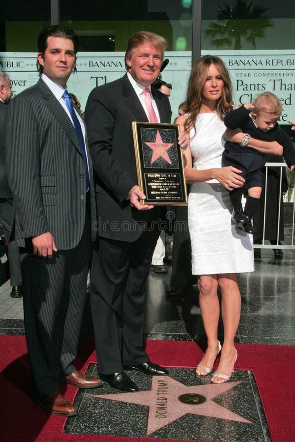 Triunfo de Melania, triunfo de Barron, Donald Trump, JR de Donald Trump, Jr. de Donald Trump, Donald Trump, JR, Donald Trump, JR. imagenes de archivo