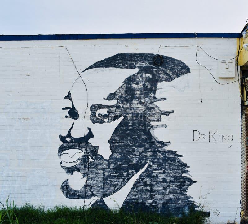 JR DE MLK Mural pintado a mano imagen de archivo