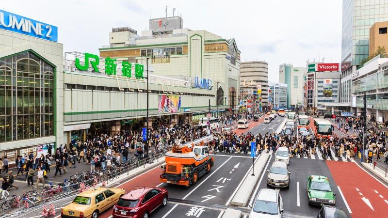 JR ferrocarril de Shinjuku fotos de archivo libres de regalías