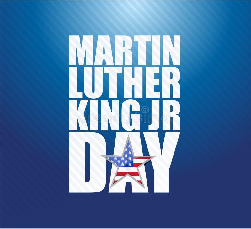 JR fond de Martin Luther King de bleu de signe de jour illustration de vecteur