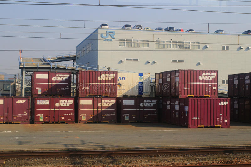 JR Freight is one of the constituent companies of Japan Railway. It provides transportation of cargo nationwide royalty free stock photography