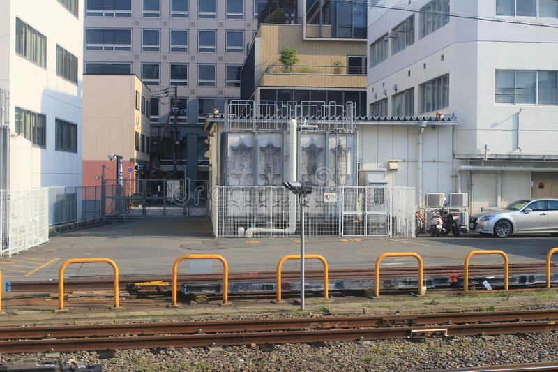 JR Freight is one of the constituent companies of Japan Railway. It provides transportation of cargo nationwide royalty free stock photos