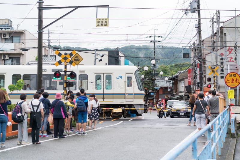 JR koleje w Japonia zdjęcia royalty free