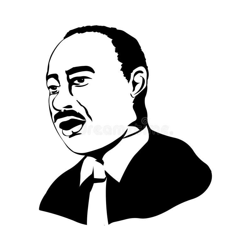 jr królewiątka luther oknówka Wektorowy portret Martin Luther King jr royalty ilustracja