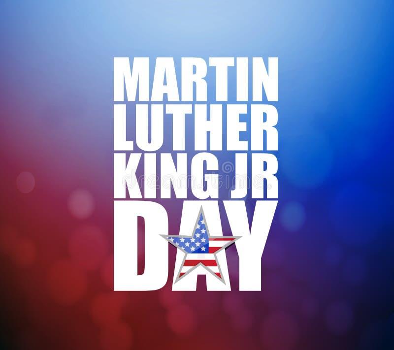 JR signe de Martin Luther King de jour illustration de vecteur