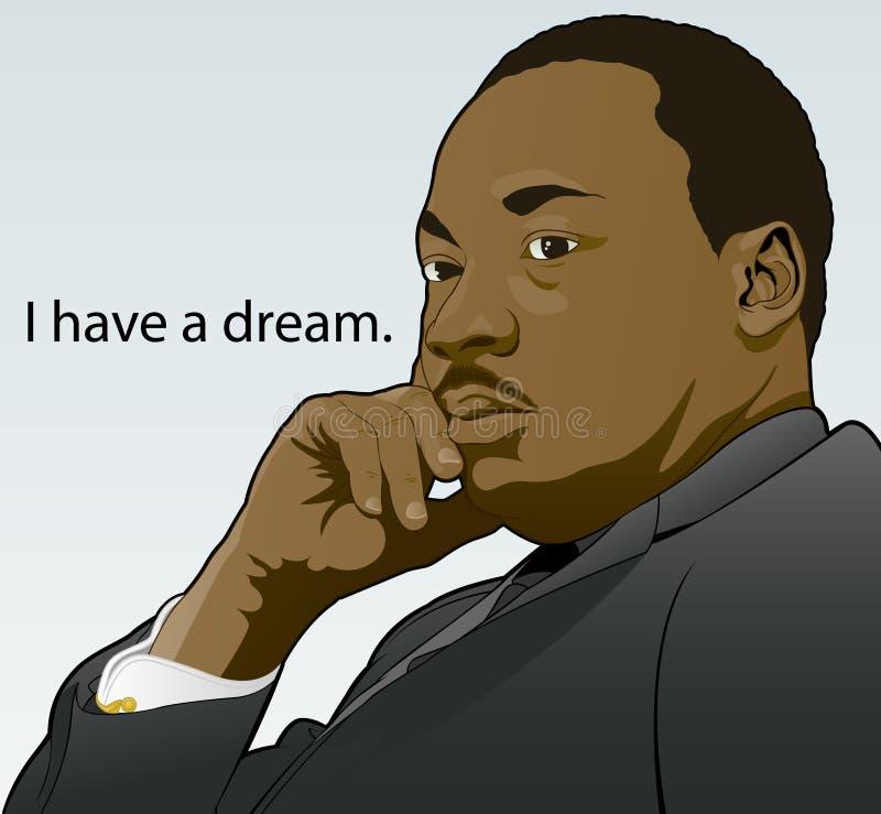 Jr. van Martin Luther King. stock illustratie