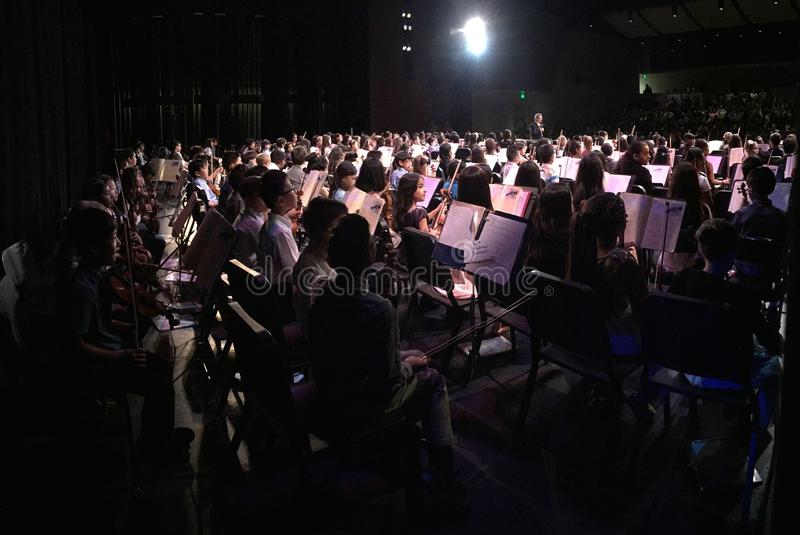 Jr Wysoki orkiestra koncert zdjęcie royalty free
