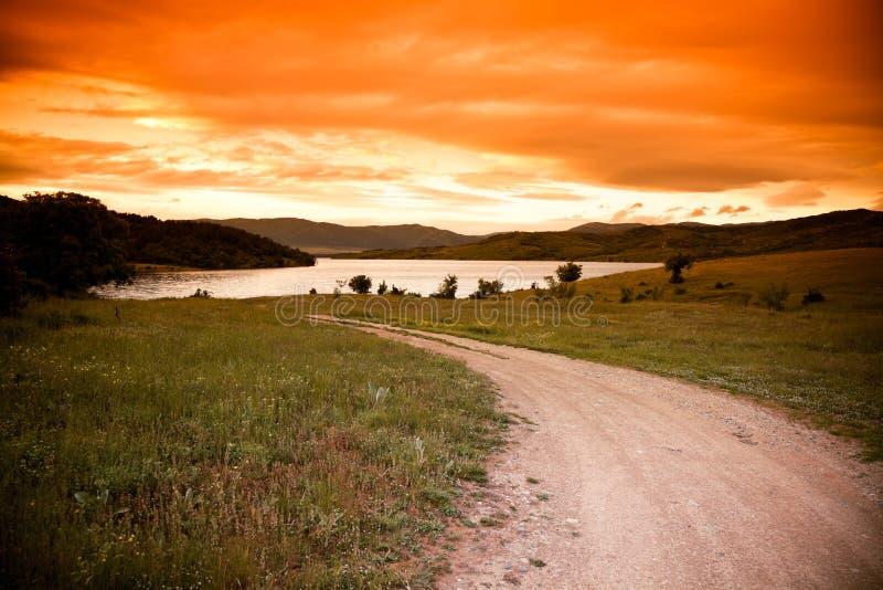 Jrebchevo Lake stock photo