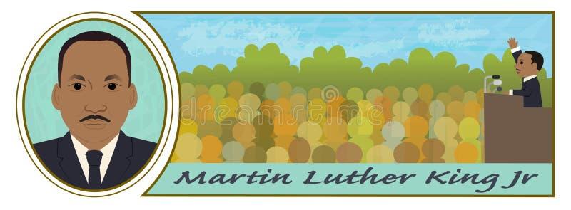 jrkonungluther martin royaltyfri illustrationer