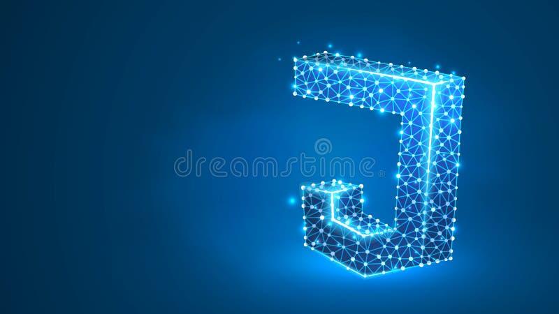 JS, σήμα κωδικοποίησης Java Script. Συσκευή, προγραμματισμός, ανάπτυξη ιδέας.  ελεύθερη απεικόνιση δικαιώματος