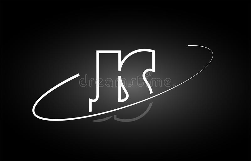 js j s信件字母表商标黑色白色象设计.图片