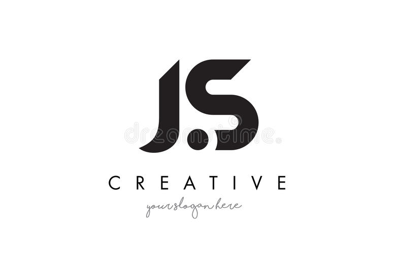 js letter logo design with creative modern trendy typography stock vector illustration of