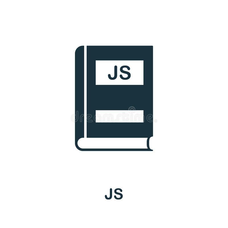 Js symbol Idérik beståndsdeldesign från programmeraresymbolssamling Perfekt Js för PIXEL symbol för rengöringsdukdesign, apps, pr royaltyfri illustrationer