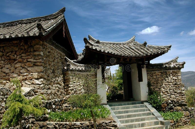 Ju Zhu Qing Tian, China: Old Stone Village House Royalty Free Stock Photos