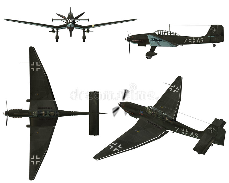 Download JU87D Stuka stock illustration. Image of ground, plane - 7169756