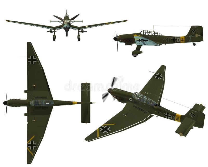 Download JU87D Stuka stock illustration. Image of blitzkrieg, plane - 7169961
