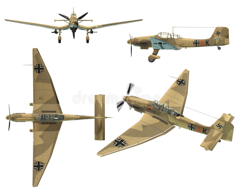 Download JU87D Stuka stock illustration. Illustration of digital - 7170077