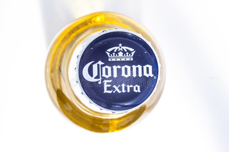 Juan Aldama, Zacatecas City. Mexico Jan 3, 2020. Top view of a Corona Beer. Grupo Modelo. Unionized beer go under strike; they. Demand fair elections stock images