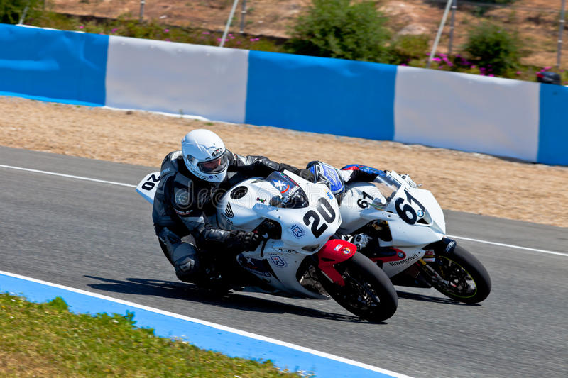 Juan Alonso and Felix Rodriguez pilots of Stock Extreme of the C royalty free stock image