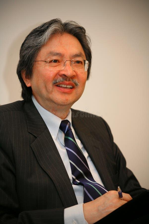 Juan C. Tsang - espec. financiera de secretaria Hong-Kong imágenes de archivo libres de regalías